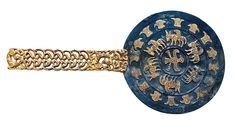 Espejo. El tesoro de un guerrero sármata de las estepas. S.IV a.C. Filippovka. Rusia.