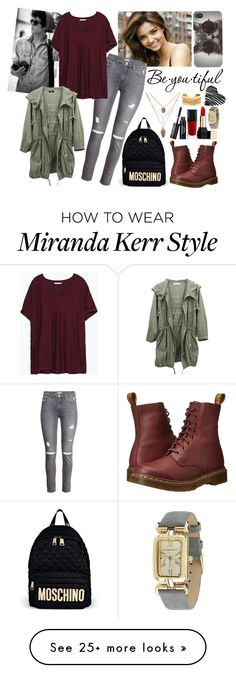 """#50 In The City"" by charlotte-sk on Polyvore featuring Schone, Kerr®, H&M, Zara, Dr. Martens, Rivka Friedman, Moschino, Guerlain, With Love From CA and Isaac Mizrahi"