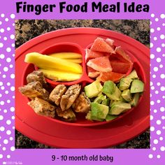 Babies Eating at 10 Months - Lessons By The Lake 10 Months Baby Food, 10 Month Old Baby Food, Healthy Baby Food, Food Baby, Baby Meal Plan, Baby Finger Foods, Baby Foods, Baby Eating, Baked Fish
