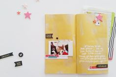 Preschool Goals by welobellie at @studio_calico - project life layout in a Traveler's Notebook