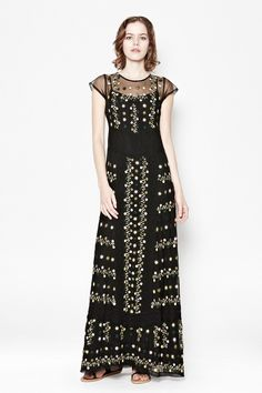 French Connection Springfield Flower Maxi Dress