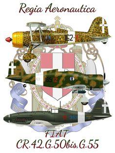 Italian Air Force, Italian Army, Luftwaffe, Airplane War, Plane Drawing, Anima Mundi, Political Art, Ww2 Aircraft, Fiat