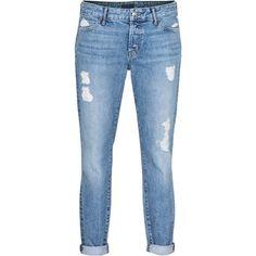 KORAL LOS ANGELES Boyfriend Used Light Blue Destroyed boyfriend jeans