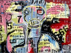30x40 inch Hughart folk outsider BASQUIAT inspired art painting - YOUR OPINIONS #OutsiderArt