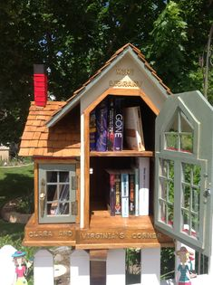 """""""Take a book, leave a book"""" The Little Free Library located at 9991 N Mulberry Drive in Cedar Hills, Utah. Little Free Library Plans, Little Free Libraries, Little Library, Mini Library, Library Books, Dream Library, Cabana, Little Free Pantry, Library Inspiration"""