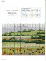 Gallery.ru / Фото #1 - 5 - KarapyziKM Cross Stitch Flowers, Le Point, Cross Stitching, Periodic Table, Album, Sunflowers, Wall, Landscapes, Crossstitch
