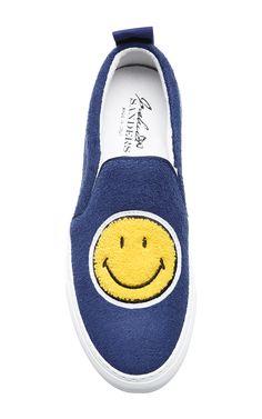 Printed Terry Slip-On Sneakers by Joshua Sanders - Moda Operandi