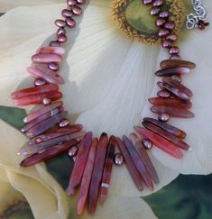 Chunky Agate Spike Bead Necklace  #304