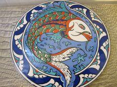 TURKISH TILE: Round Ceramic Tile from Turkey. Travel Voyager