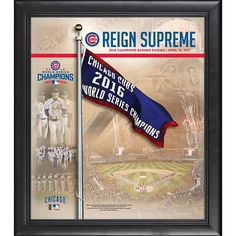 "Chicago Cubs Fanatics Authentic Framed 15"" x 17"" 2017 Banner Raising Ceremony Collage"