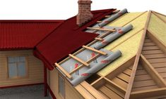 How to insulate the roof properly? A Frame House Plans, Pole Barn House Plans, Pole Barn Homes, Roof Architecture, Architecture Details, Metal Building Homes, Building A House, Painel Sandwich, Roof Design