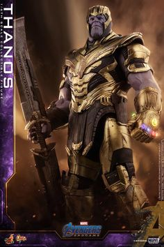 The Marvel Thanos Sixth Scale Figure by Hot Toys is now available for fans of Avengers: Endgame and Marvel. Thanos Marvel, Marvel Avengers Comics, Marvel Villains, Avengers Movies, Marvel Heroes, Marvel Characters, Marvel Dc, Hulk Smash, The Avengers