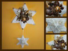 vánoční+dekorace+na+dveře,+stěnu+nebo+do+okna+Závěs+se+zkládá+ze+dvou+hvězd,+30cm+a+menší+cca+16cm+.+Celková+délka+závěsu+je+70cm.+Lze+rozdělit+a+větší+použít+i+jako+dekoraci-svícen,když+do+něj+zapíchnete+svíčku.+Dekorace+je+bohatě+zdobena+a+lze+udělat+v+jakékoli+barvě....