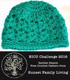 Garden Beanie | Free Crochet Pattern | NICU Challenge 2016