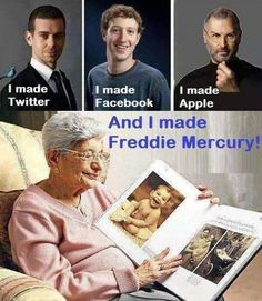 God bless you Jer Bulsara you gave all of us the greatest frontman of the best rock band in the world Queen & the legend that is Freddie Mercury & every Queen fan in the world is truly thankful❤️🤘 Beatles, Bryan May, Queen Meme, Roger Taylor, Funny Memes, Hilarious, We Will Rock You, Queen Freddie Mercury, Queen Band