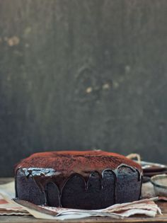 Maple porter & chocolate bundt cake