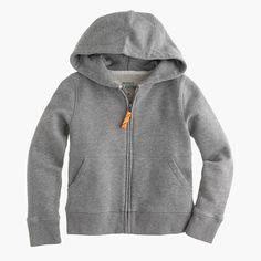 Kids' hangout zip hoodie in heather graphite : hoodies | J.Crew
