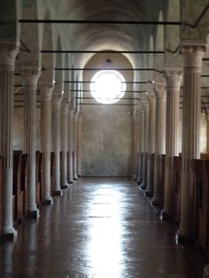 What an amazing place in #Cesena, Italy: La Biblioteca Malatestiana, the oldest library in all of Europe.