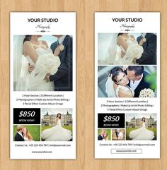 Wedding Photographer Rack Card Template  by TemplateStock on Etsy