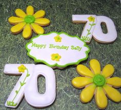 70th Birthday cookies - Mt Lookout Sweets