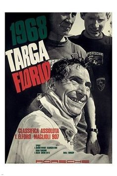 1968 TARGA FLORIO vintage sports poster PRECISION CAR RACING 24X36