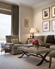 Гостиная с мягкой мебелью в американском стиле