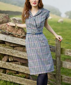This Gray Plaid Adair Dress by Shabby Apple is perfect! #zulilyfinds