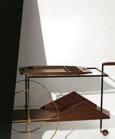 Bar Trolley by Jorge Zalszupin. My dream bar trolley! Home Office Design, House Design, Tea Trolley, Drinks Trolley, Tea Cart, Vintage Bar, Summer Design, Booth Design, Display Design
