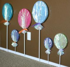 DIY lollipop decor