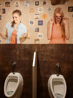 Men toilet at Rock 'N' Roll pub (Šiauliai, Lithuania). Irish Pub Interior, Bar Interior, Interior And Exterior, Toilet Design, Beer Bar, Lithuania, Rock N Roll, Exterior Design, Rock And Roll
