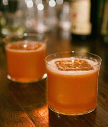 Aged to Perfection - orange juice, aged balsamic vinegar, honey syrup, VSOP Cognac.