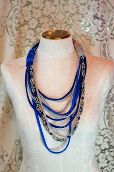 TShirt Scarf Chain Embellishments by starsforstreetlights on Etsy, $32.00