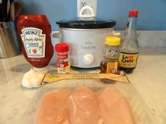 Crockpot Honey Garlic Chicken. love finding recipes that i already have all the ingredients for!