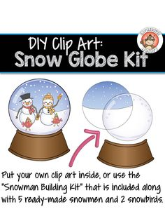 Make a digital snow globe!  Use the clip art provided, or put a winter hat and scarf (provided) on your favorite clip art.  If you have Photoshop, you could even put yourself inside!!  I can't wait to try this :-)