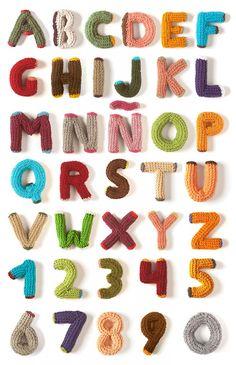crocheted alphabet by Lalala Toys