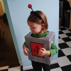 robot costume - great ideas for the main body. pink underneath, dials on the front/back