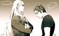 """The glorious Thranduil meets his shy, nice guy alter ego- Lee."""