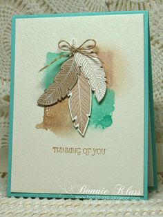 Stamping with Klass: Feathers