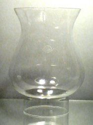 Hurricane Lamp Shade Glass Bulbous 1 7/8 inch fitter x 7.5 x 4 5/8 ...