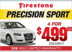 Firestone Precision Sport - 4 for $499.99