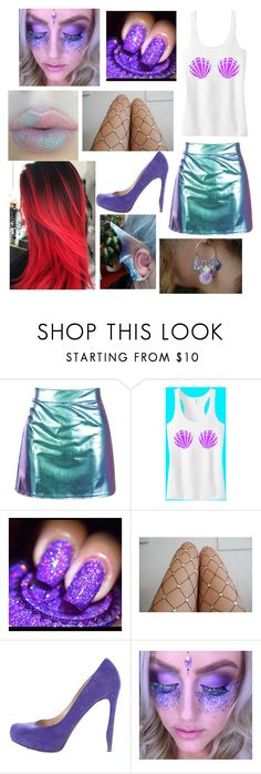 """punk little mermaid"" by sarcasmandloneliness ❤ liked on Polyvore featuring Lirika Matoshi and Nicholas Kirkwood"