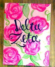 Gorgeous Delta Zeta canvas