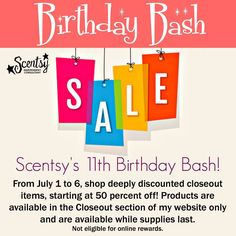 Wickless candles and scented fragrance wax for electric candle warmers and scented natural oils and diffusers. Shop for Scentsy Products Now! 11th Birthday, Birthday Bash, Happy Birthday, Scented Wax Warmer, Scentsy Independent Consultant, Wax Warmers, My Website, Host A Party, Discount Shopping
