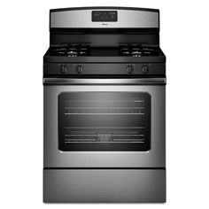 $396 - Amana 5.0 cu. ft. Gas Range with Self-Cleaning Oven in Stainless Steel-AGR5630BDS at The Home Depot