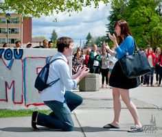 Wedding Proposal, Gonzaga Style (video)