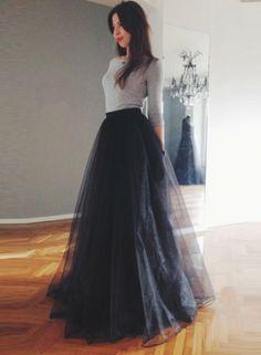 Solid Color Elastic Waist Mesh Maxi Dress OASAP.com