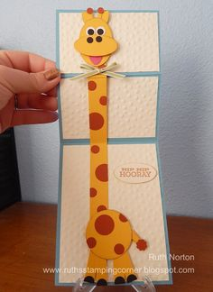 This is extremely cute. I made it for my friend's 15th birthday because she is in love with giraffes and she loved this card so much!