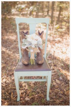 Cowboy Boots and Bouquet