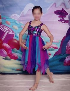 Dance Costume Pageant Beautiful Pink Purple Blue Flowing Ballet Lyrical LC | eBay