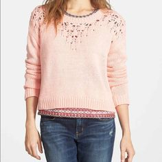 Sweater NWT size Small Light pink cropped sweater. Size small Sweaters